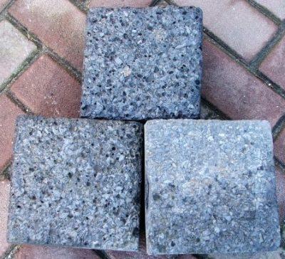 van den Broek product categorie Koperslakkeien 20x20x8 gebruikt zwart Restpartij ± 11 m²