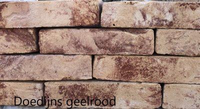 van den Broek product categorie Hilversumformaat metselsteen Doedijns geelrood Restpartij ± 1500 stuks